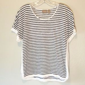 Chico's blue & white striped Tee Sz L or Chico's 2